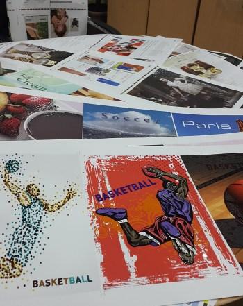 Various printed items