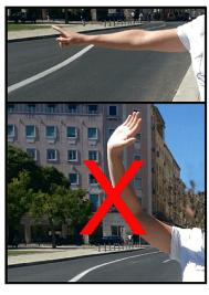 Signe à faire au chauffeur