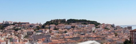 Vue de Lisbonne du belvédère São Pedro de Alcântara