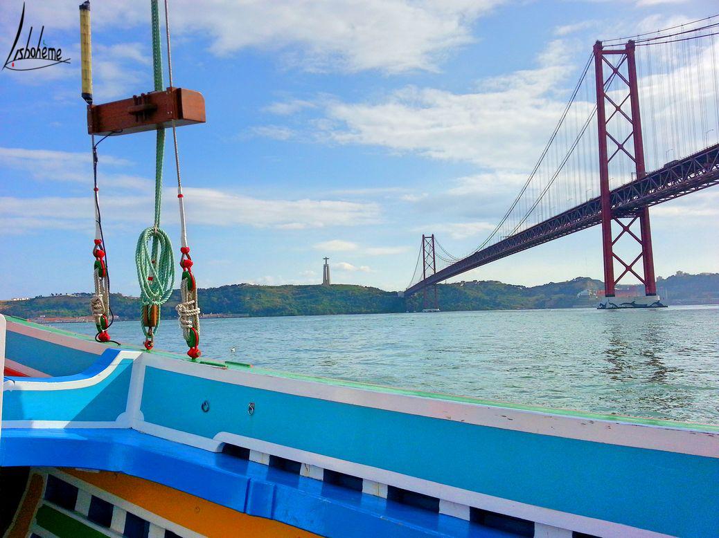 Cristo-Rei et pont 25 Avril croisière sur le Tage, Nosso Tejo