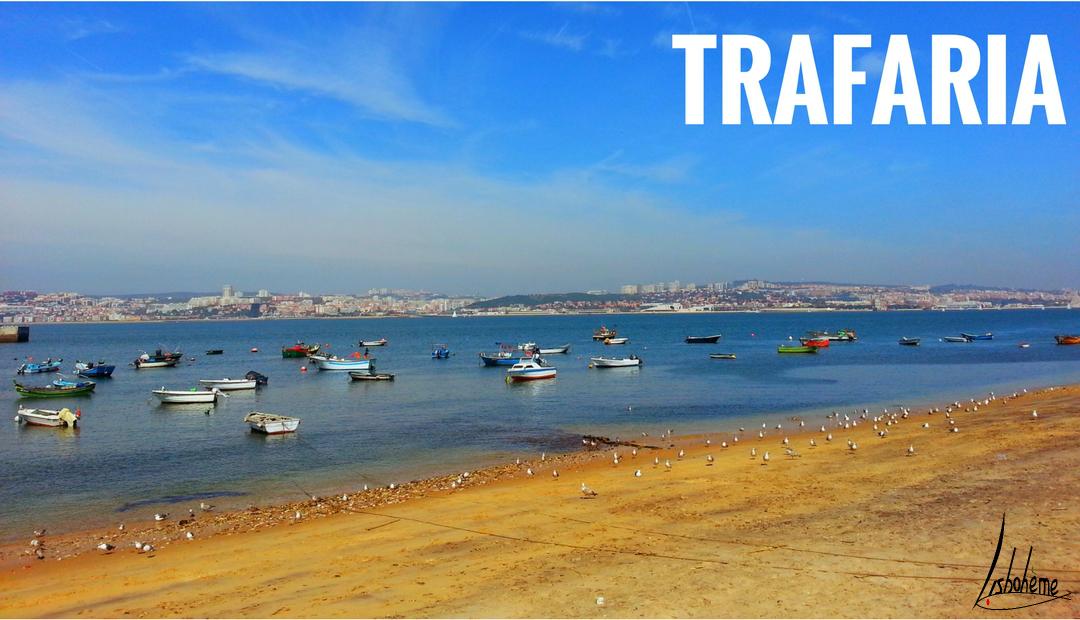 Traversée en ferry pour Trafaria et la plage de São João da Caparica