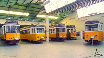 Les anciens tramwayz du musée Carris