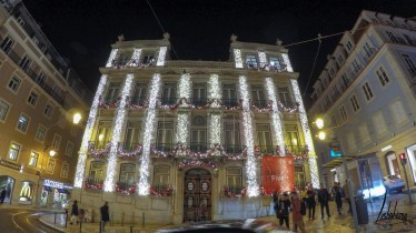 Largo do Chiado, lumières de Noël de Lisbonne 2018