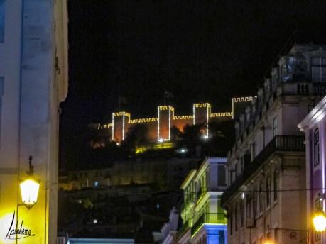Château São Jorge, lumières de Noël de Lisbonne 2018