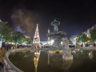 Le Rossio et son marché de Noël, lumières de Noël de Lisbonne 2018