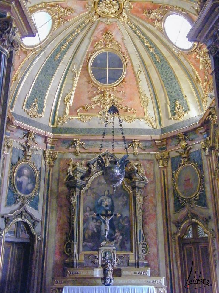 Chapelle, Palais de Queluz à Sintra, près de Lisbonne, Portugal
