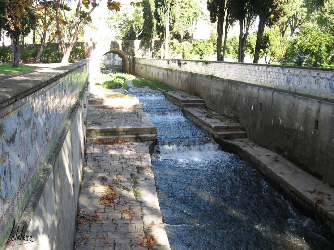 Canal dos Azulejos, Palais de Queluz à Sintra, près de Lisbonne, Portugal