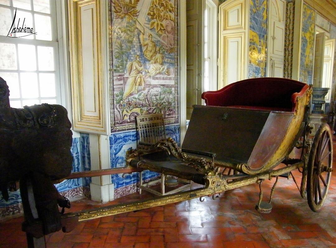 Carrosse, Corredor das Mangas, Palais de Queluz, Lisbonne, Portugal