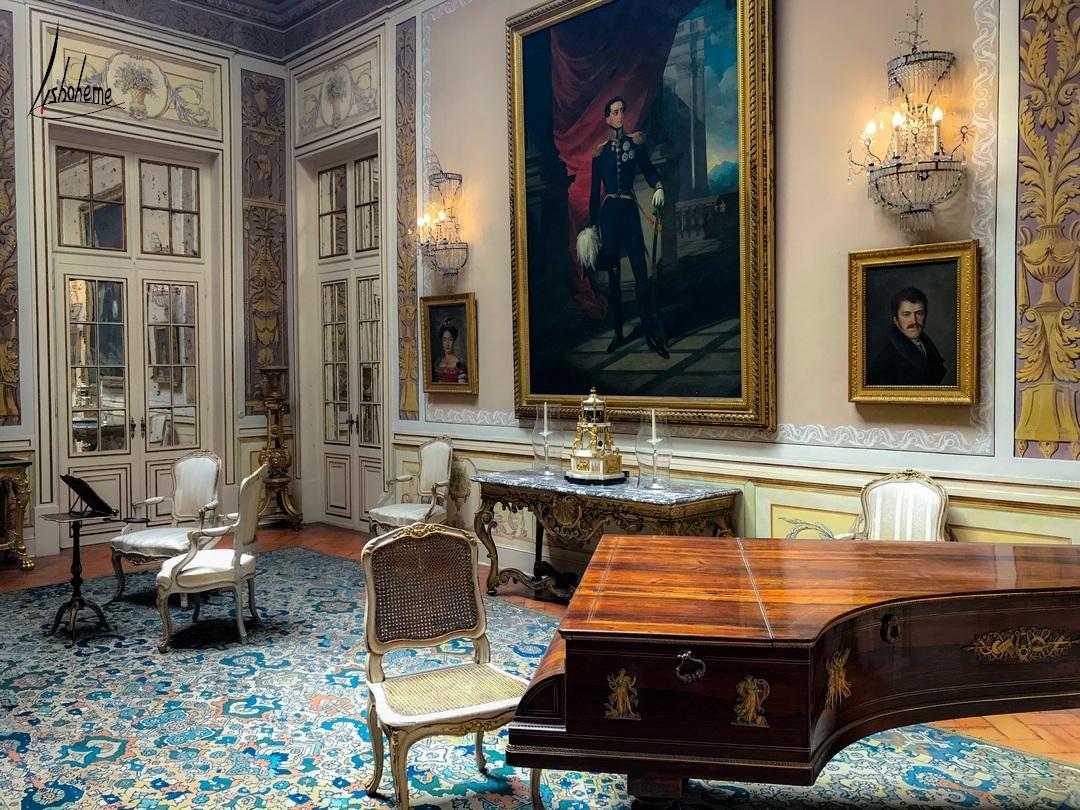 Salon de musique, palais de Queluz à Sintra, Près de Lisbonne Portugal