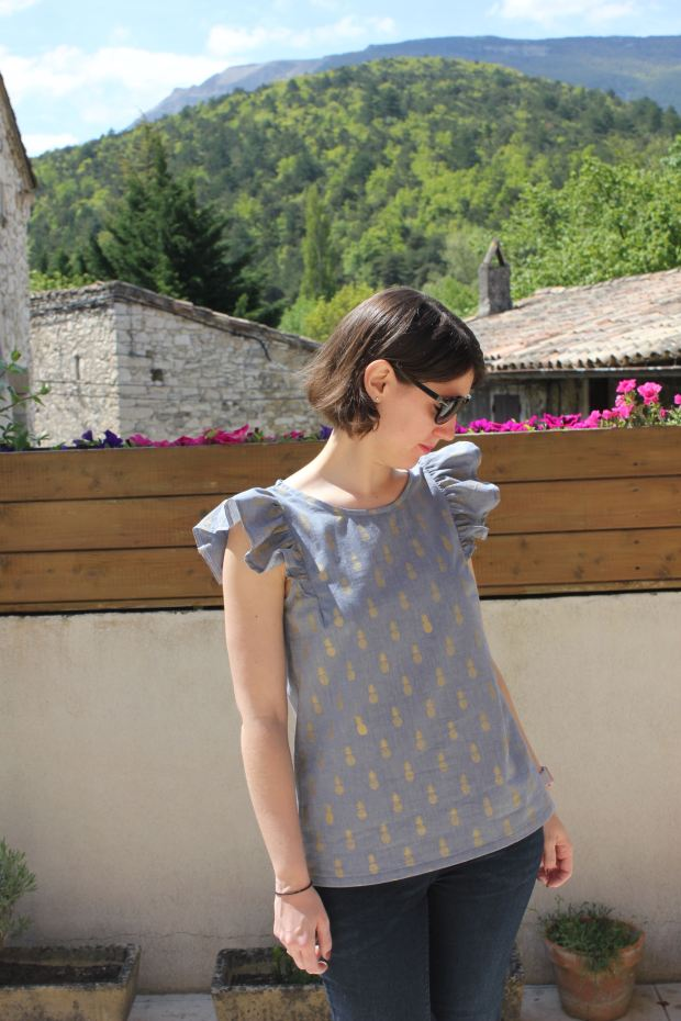 Blouse Brune Delphine et Morissette - Made by Lise Tailor