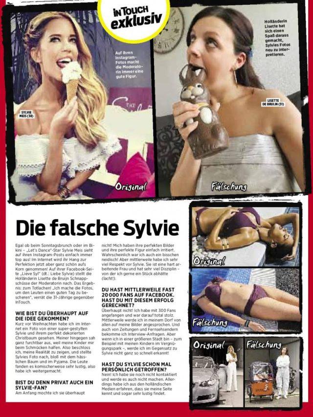 Duitse Krant tabloid InTouch Lieve Syl