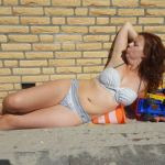 Sylvie Meis met wijn bikini strand women's health