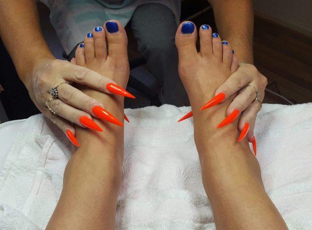 Lieve Syl voeten nagels starnails