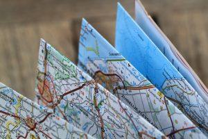 kaart wandeltocht wandelroute goede voornemens