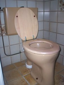 huis verbouwen zwangerschap nieuwe tegels wc