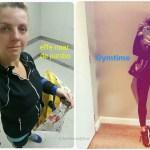 Sportselfie in de lift, net als mijn gewicht