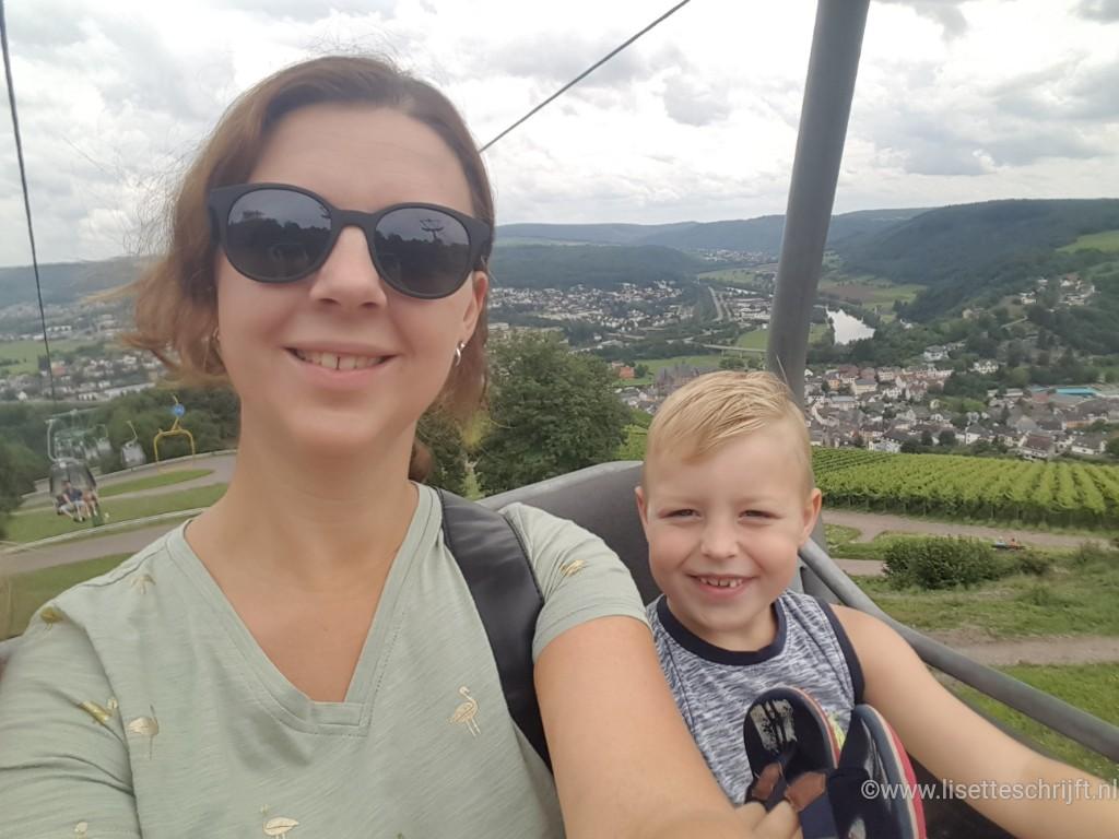 Gondel Saarburg rodelbaan lisette Schrijft