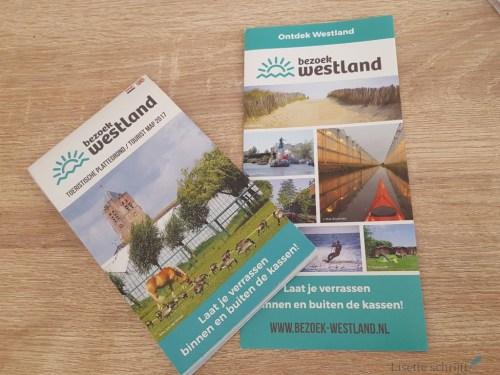 de folder en toeristische kaart van Bezoek Westland Lisette Schrijft