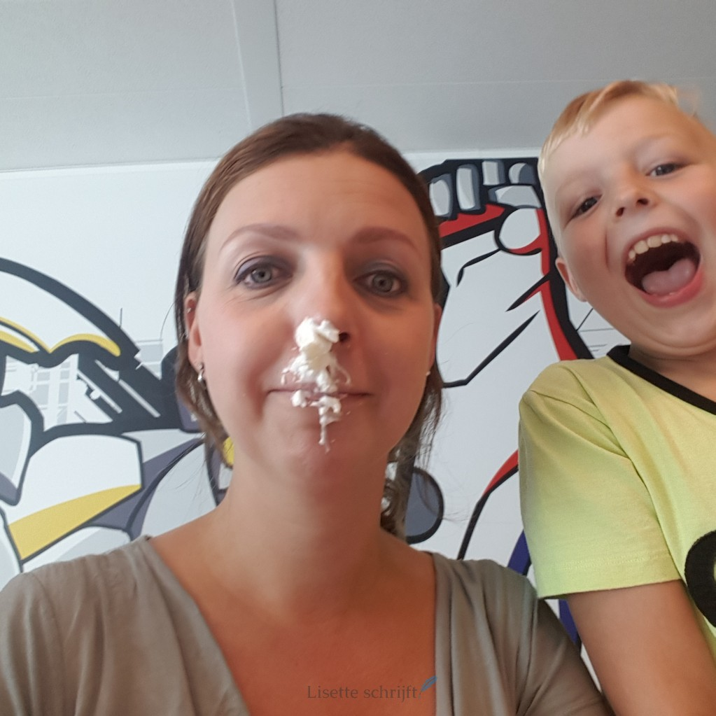 pie face showdown slagroom Lisette Schrijft