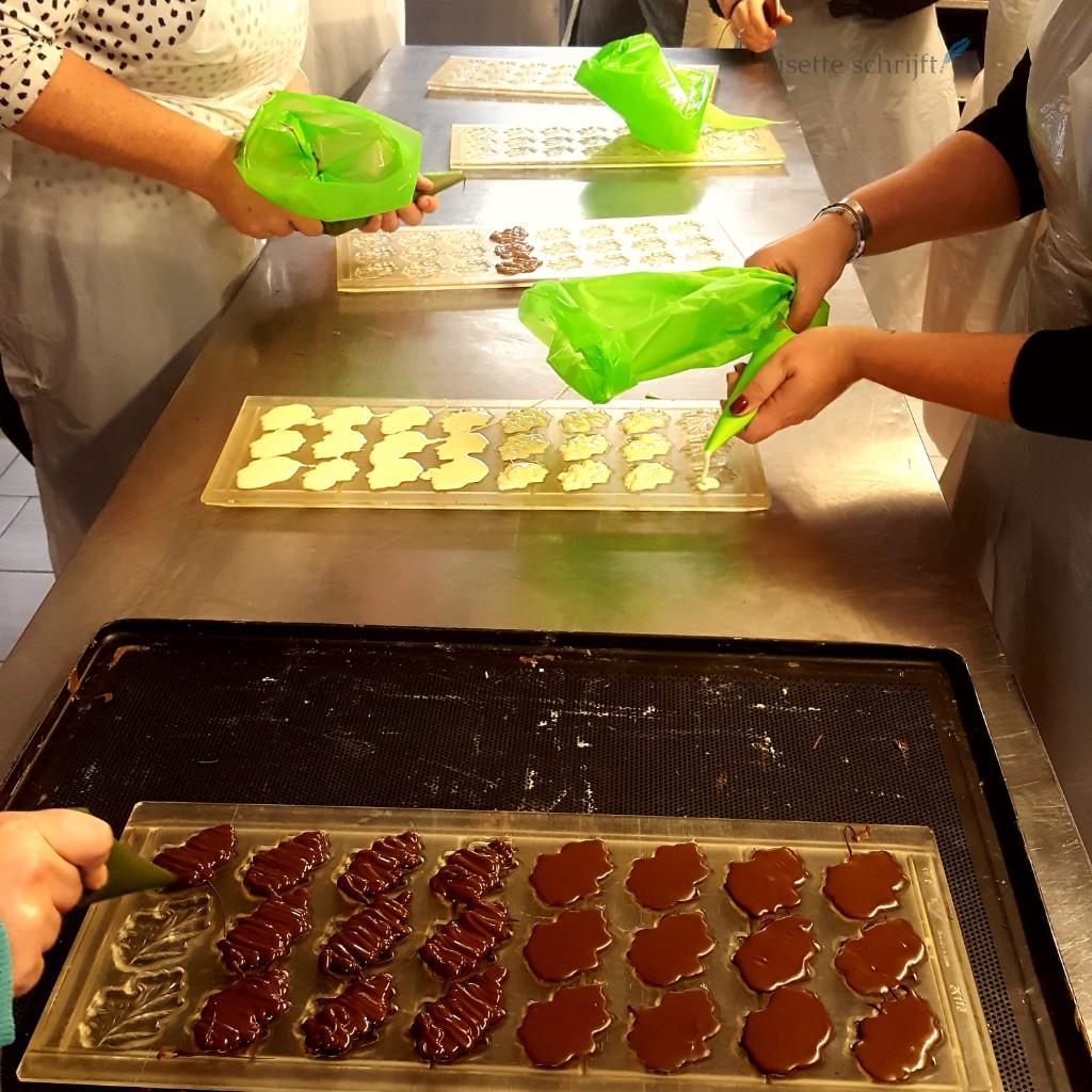 blaadjes van chocola maken Lisette Schrijft