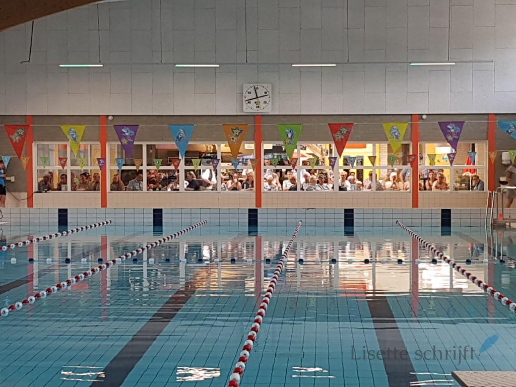 diplomazwemmen in het zwembad Lisette schrijft