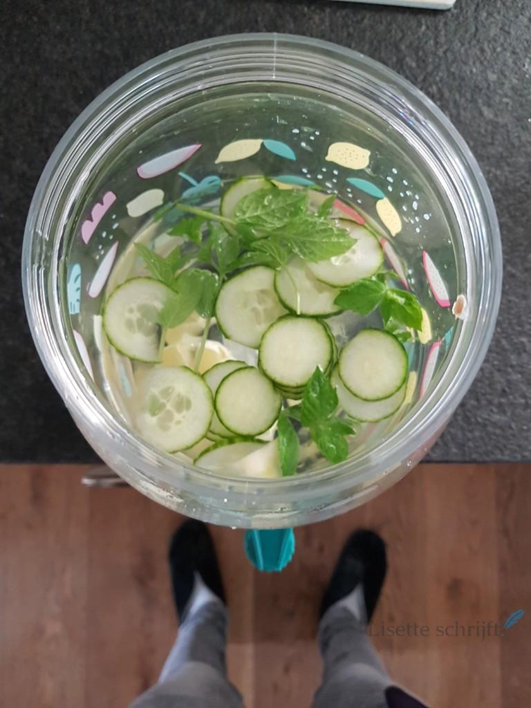 limonadetap van de hema met fruitwater lisette schrijft
