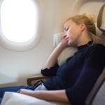 comfortabel reizen in het vliegtuig
