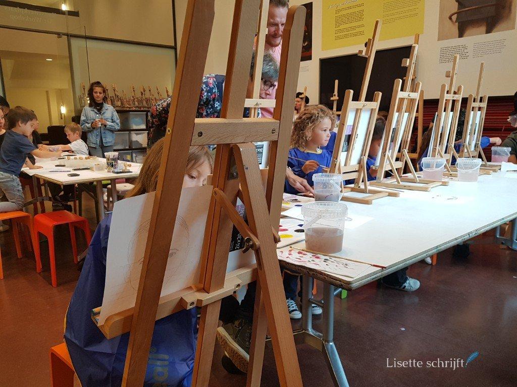 schilderen in het mauritshuis