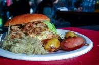 Pulled kje-burger. Foto: Lise von Krogh.