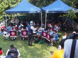Hornsby South Public School band with their conductor