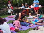 Cynthia from Connect Kids Yoga with children