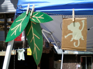 leaves and monkey