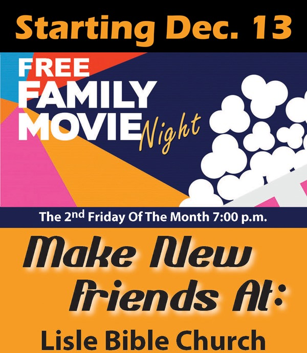 Lisle Bible Church Movie Night Web Post