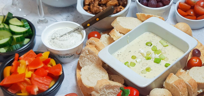 Roomkaas fondue