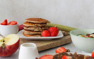Rabarber pancakes
