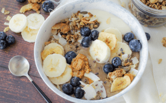 Romige chocolade smoothiebowl
