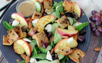 Zoete geitenkaas lunch salade