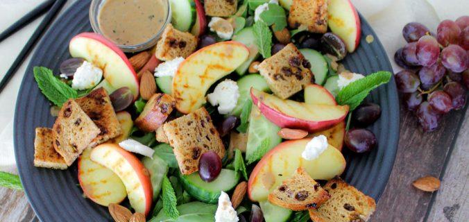 Zoete geitenkaas lunch salade