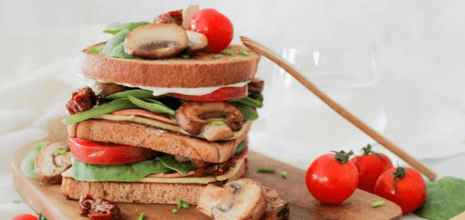Fungi spinazie sandwich