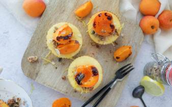 Hartige cheesecakejes met abrikoos