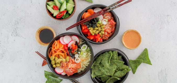 Vega tuna sushi bowl