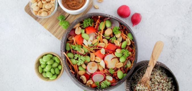 Aziatische quinoa salade