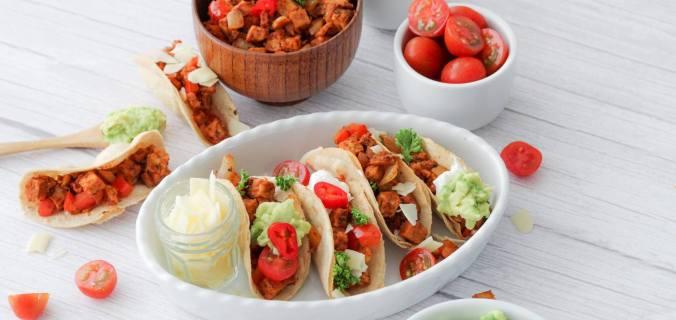 Mini taco's met tempeh