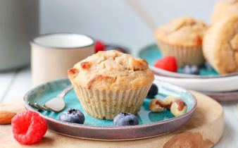 Glutenvrije bananenbrood muffins met zuurdesem