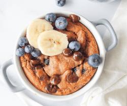 Makkelijk glutenvrij chocolade blueberry taartje