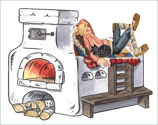 Картинки русской печи как картинки в сказках