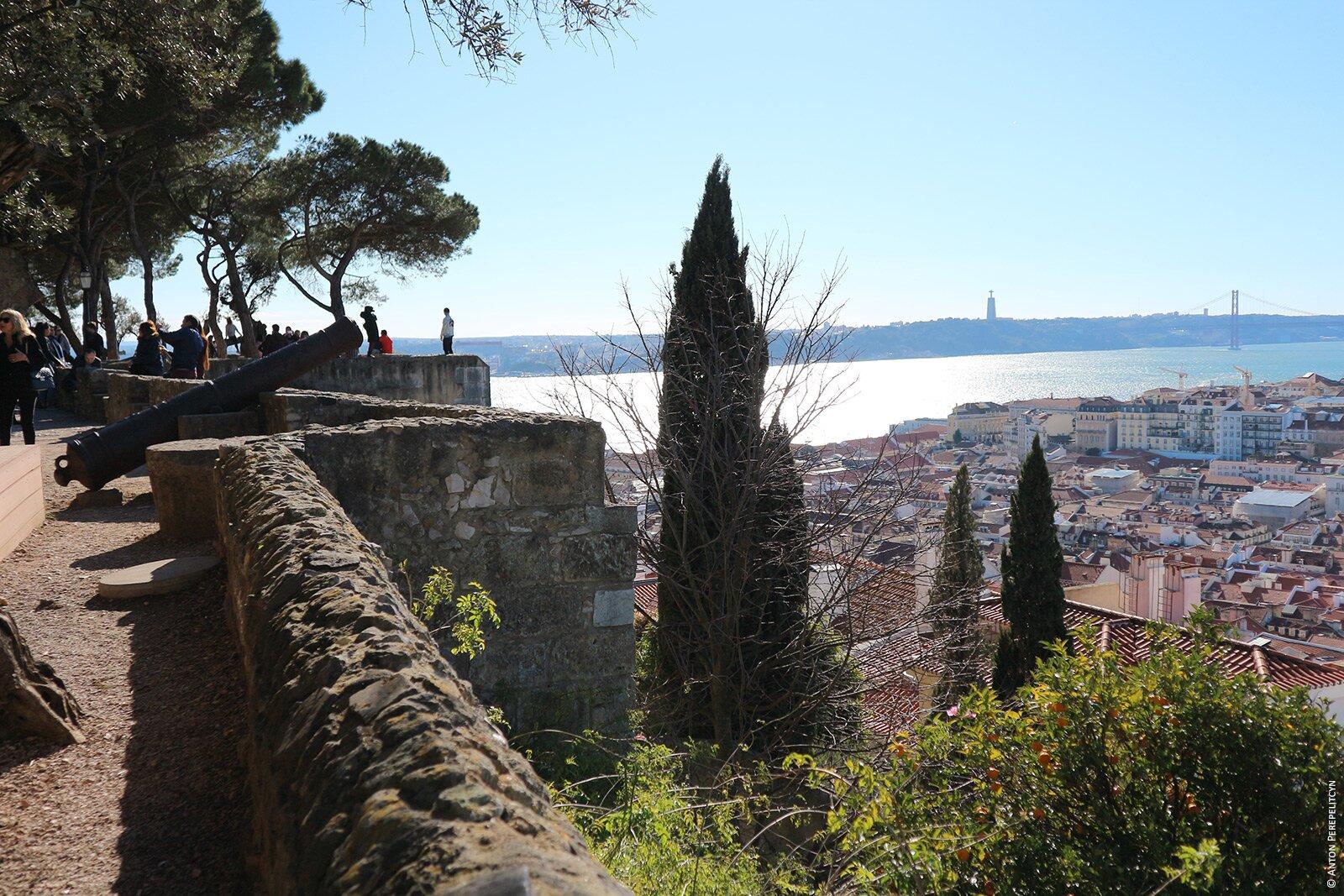 Панорама Лиссабона из замка