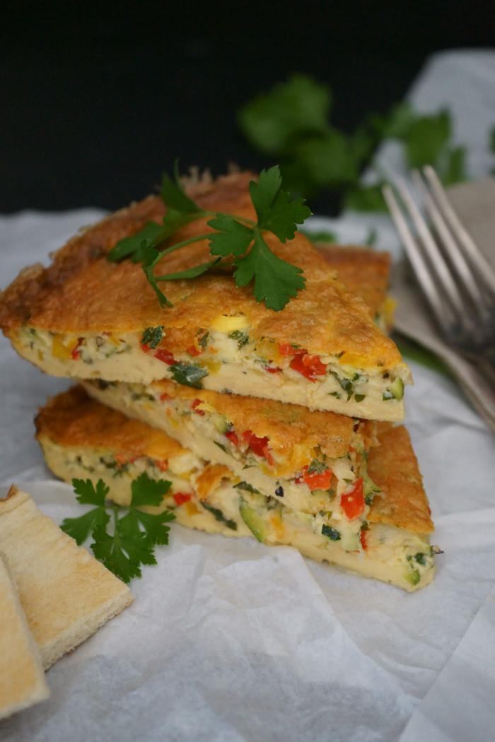 Leichtes Gemüse-Omelette