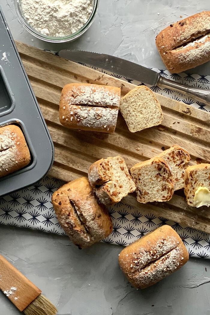 8 Mini Brote – unkompliziert & lecker