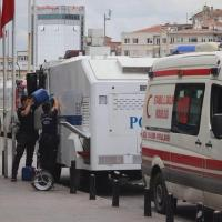 """""""Pepper Spray"""" being added to the water cannon by police in Turkey"""